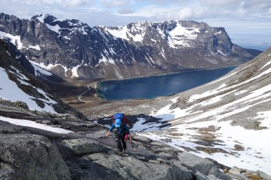 Approach to Baugen, Kvaloya, Northern Norway