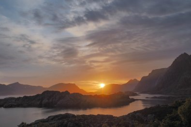 Sunset near Gandalf, Lofoten, Northern Norway