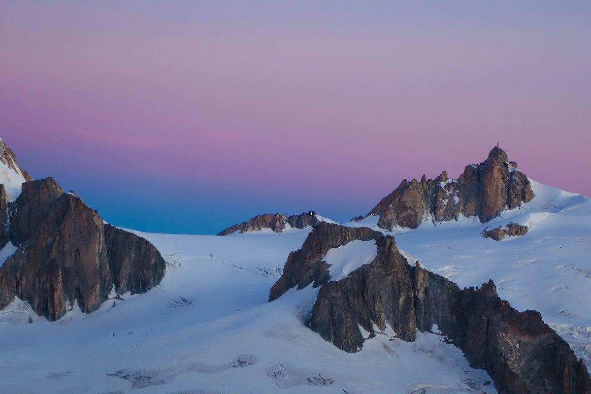 Auguille du Midi. In Alpenglow.