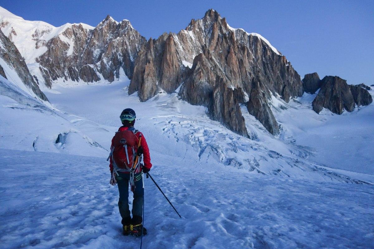The satellite peaks of Mont Blanc du Tacul.