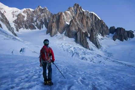 Satellites of Mont Blanc du Tacul, Chamonix, France