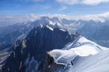 Ridge down from Auguille du Midi, Chamonix, France