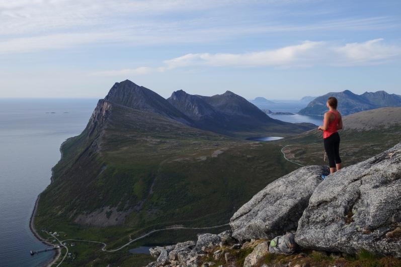 Start of Ersfjordtraversen, Kvaloya, Northern Norway