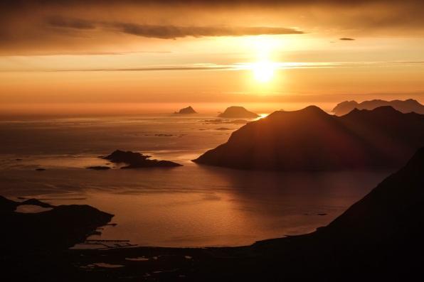 View from Ersfjordtraversen, Kvaloya, Northern Norway