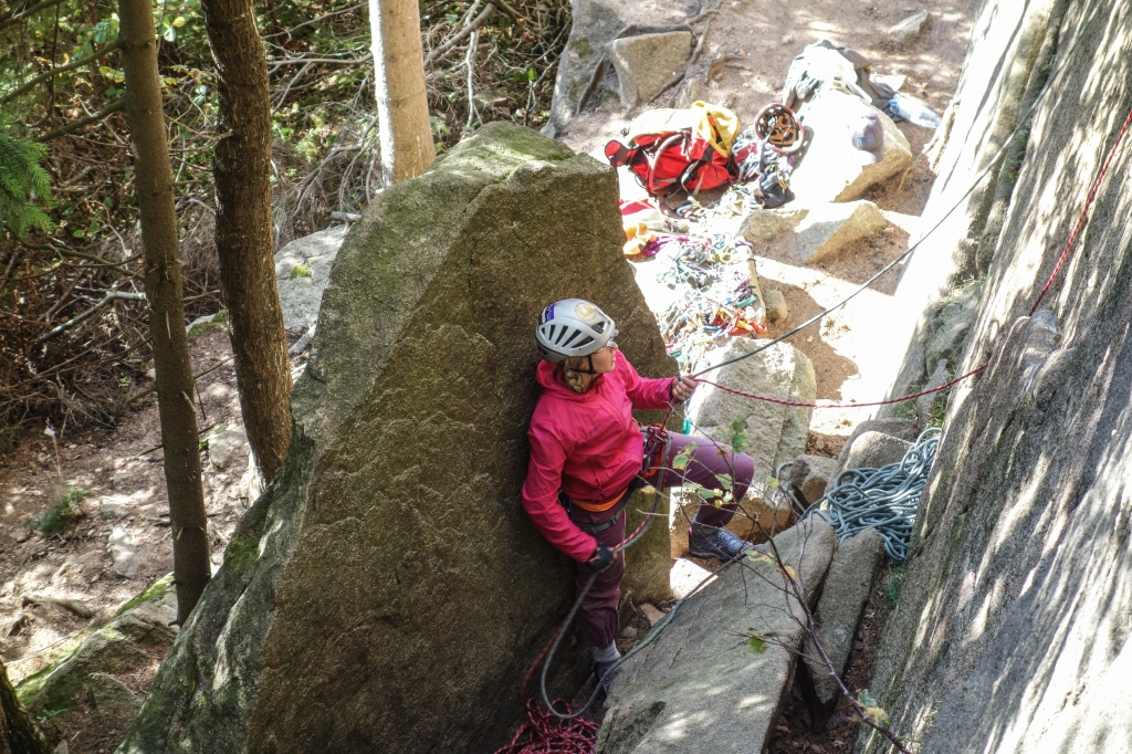 Just because belay classes are the coolest thing ever. Photo of Hanna by Arno.