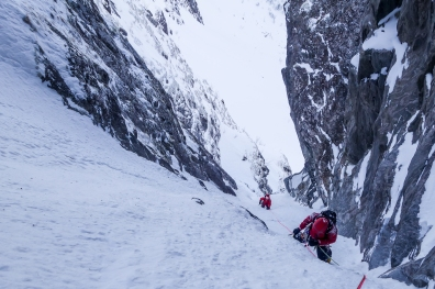 Spoon Couloir at Bringtinden, Senja Island, Northern Norway