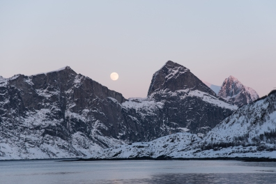Moon over Segla, Senja Island, Northern Norway