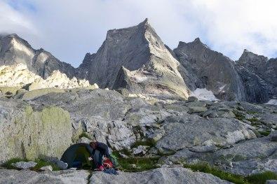 High Camp at Piz Badile, Switzerland